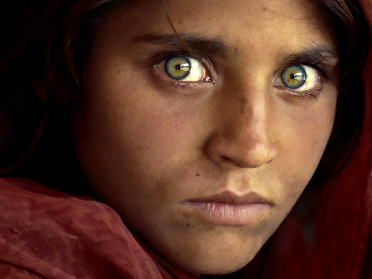 La niña afgana, 1985. Fotografía de Steve McCurry