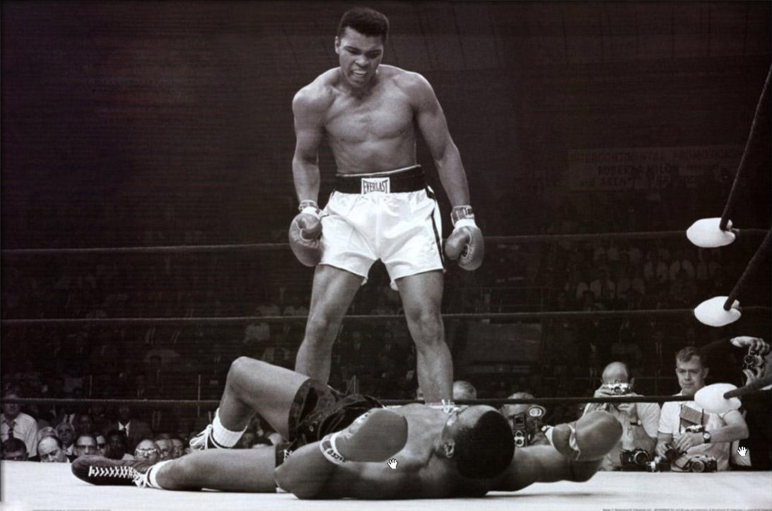 Muhammad Ali vs Sonny Liston, 1965. Fotografía de Donald L. Robinson