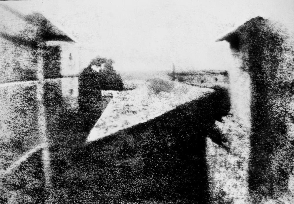 La primera fotografía de la historia, 1826. Fotografía de Nicéphore Niépce