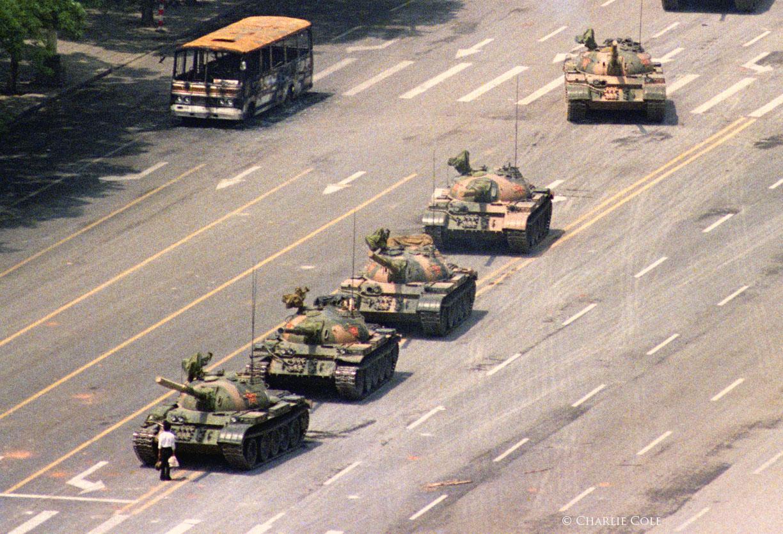 Plaza de Tiananmen, 1989. Fotografía de Stuart Franklin Magnum