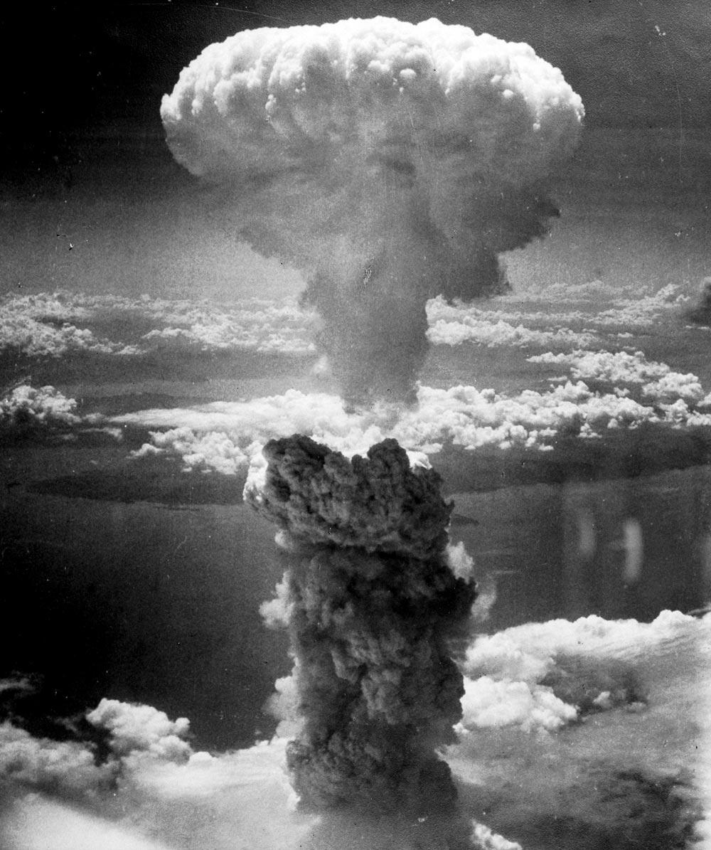 Bomba de Nagasaki, 1945. Fotografía del archivo de la U.S. Air Force