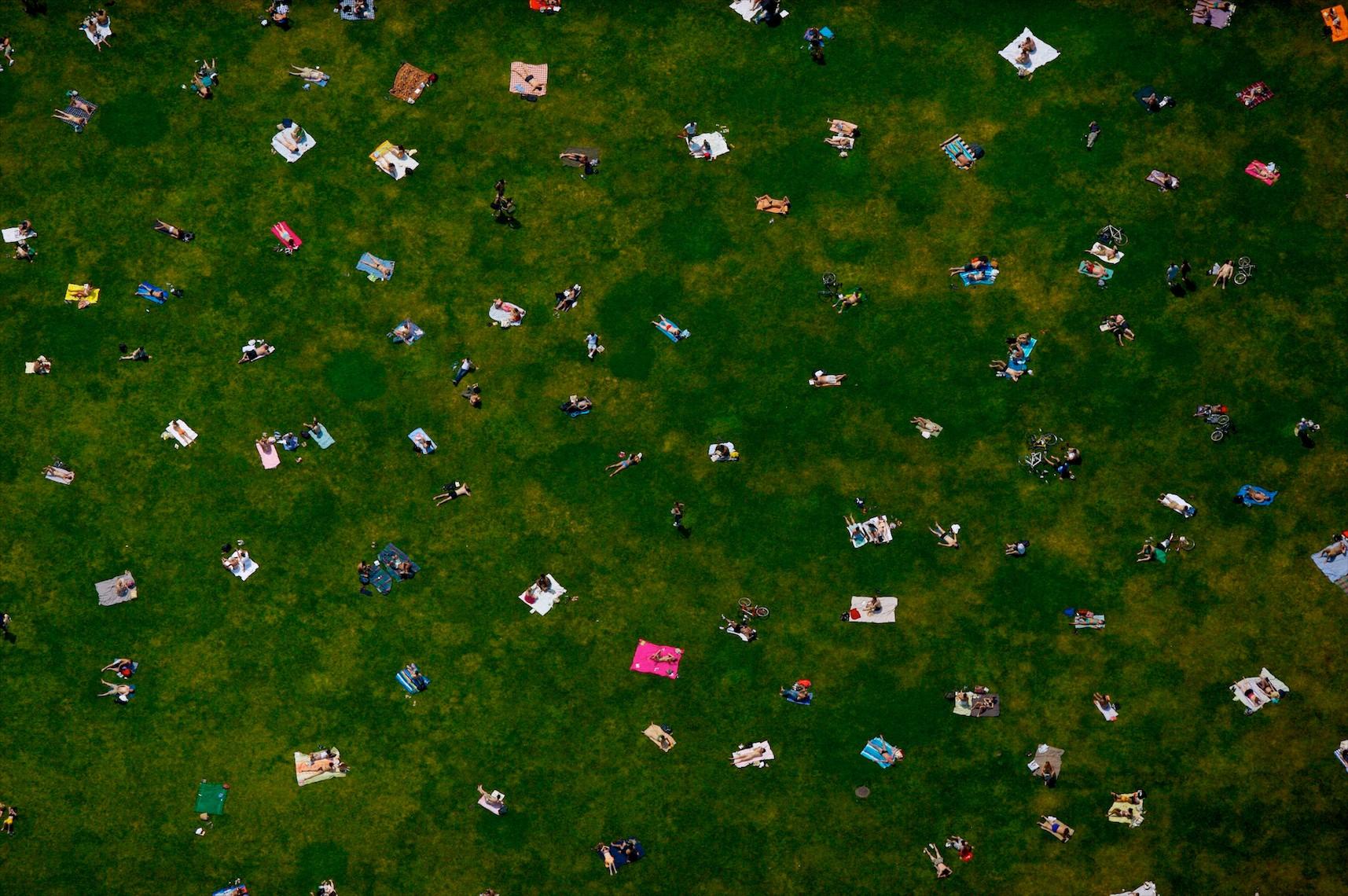 Vista aerea de Bryant Park, New York City