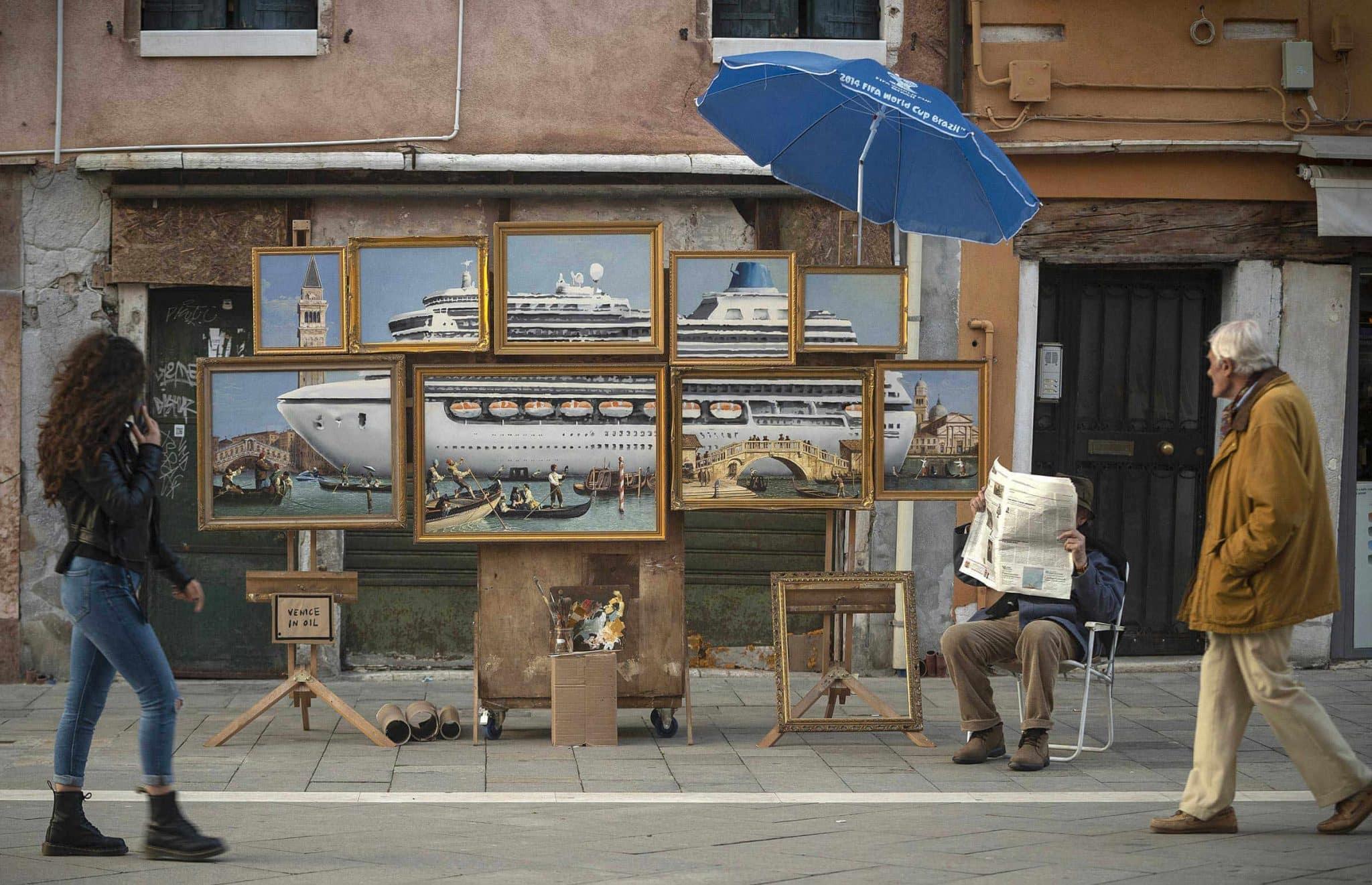 Banksy venice paintings