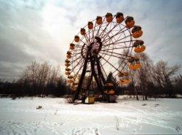 fotografia de noria en chernobil
