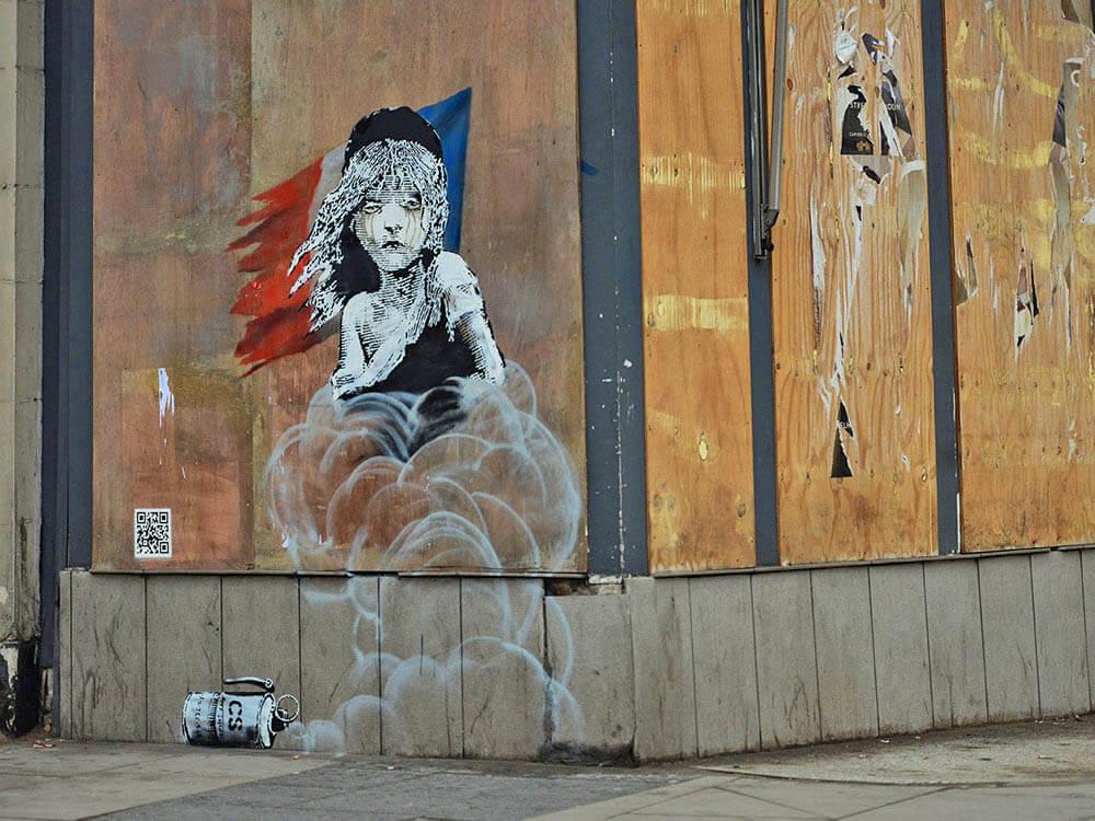Banksy wall in paris, France