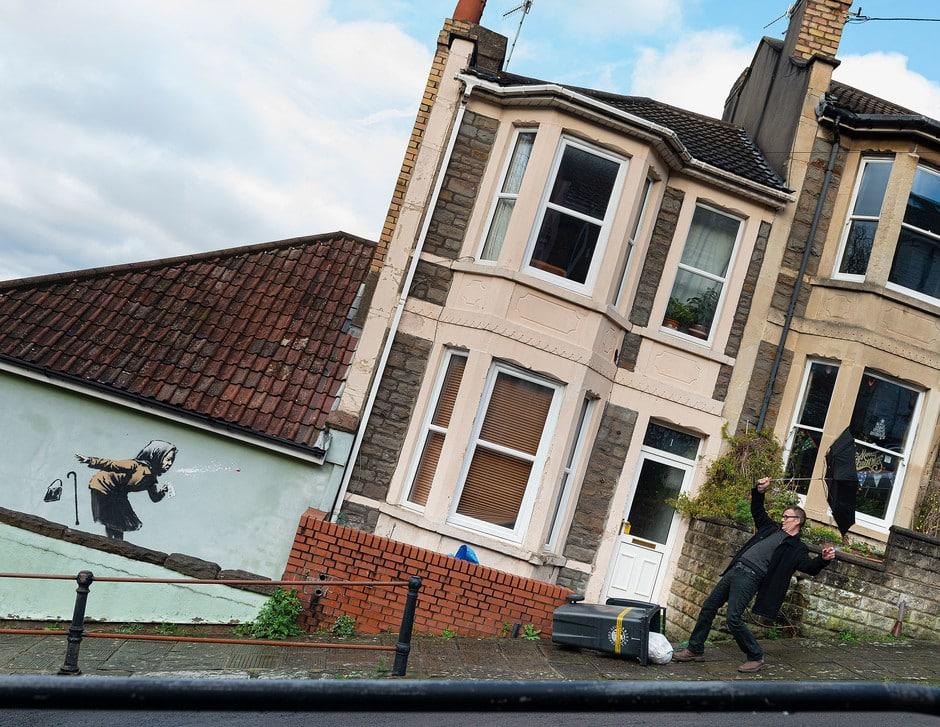 Estornudo Aachoo de Banksy en Bristol