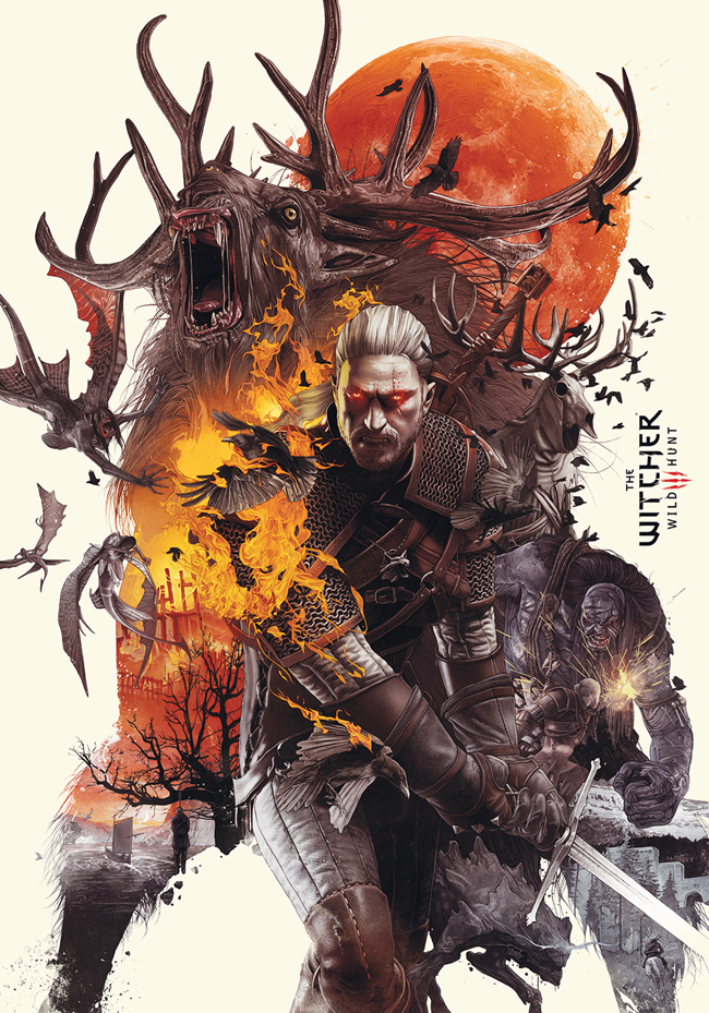 Poster del videojuego The witcher 3 wild hunt