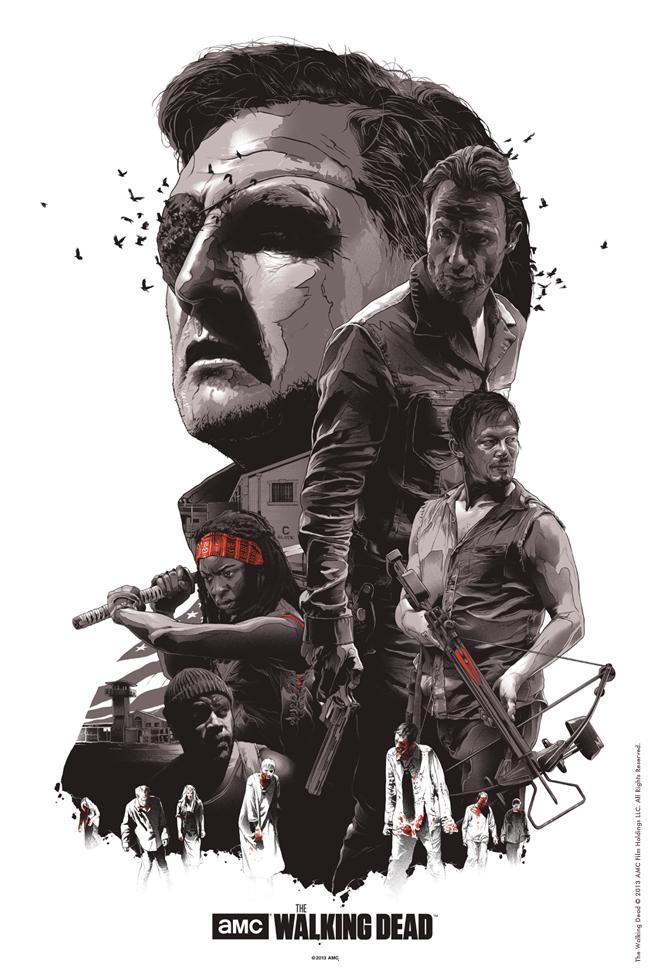 Poster de la serie de zombies walking dead