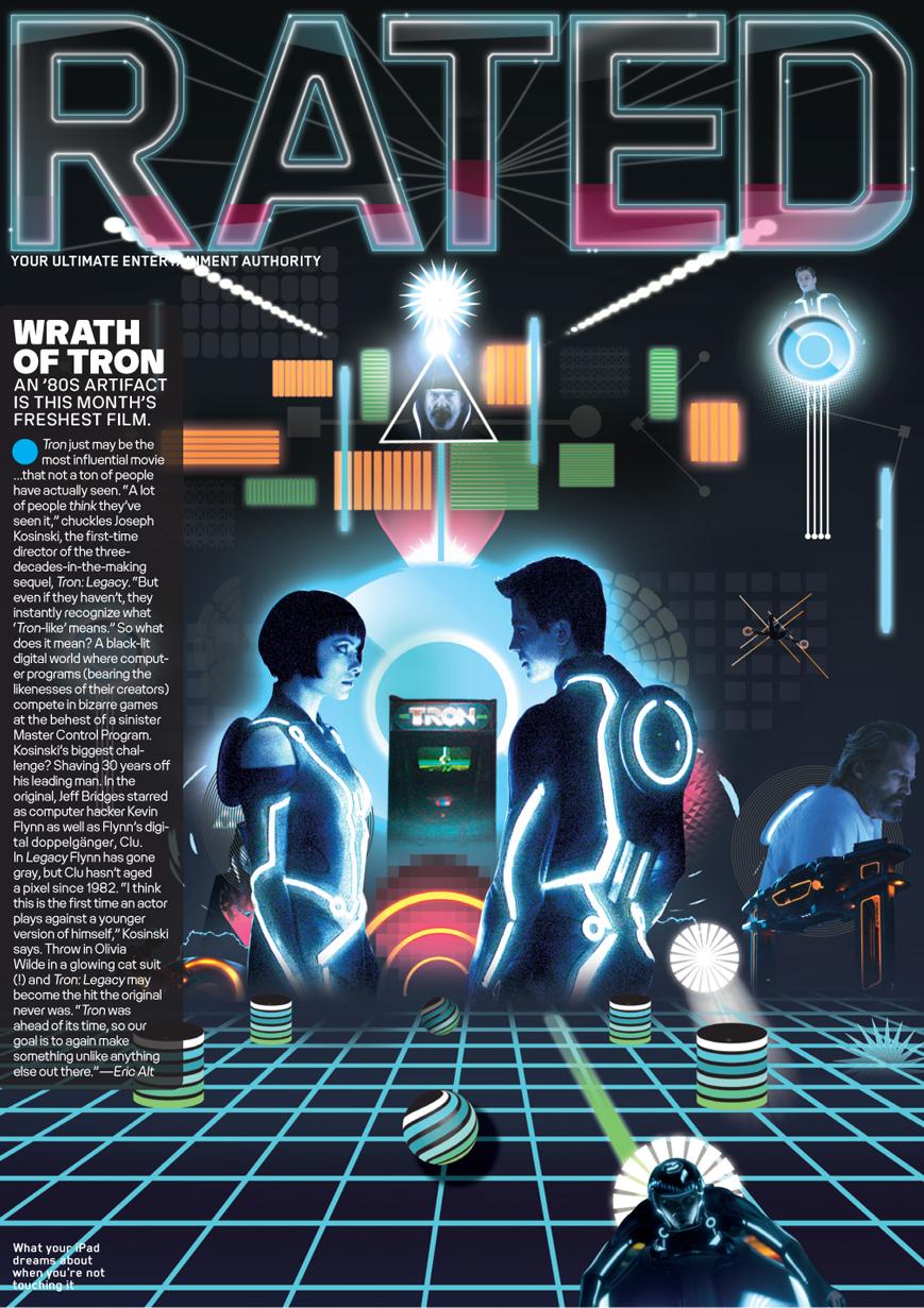 Middle boop diseño de portada de la revista rated simulando la pelicula tron