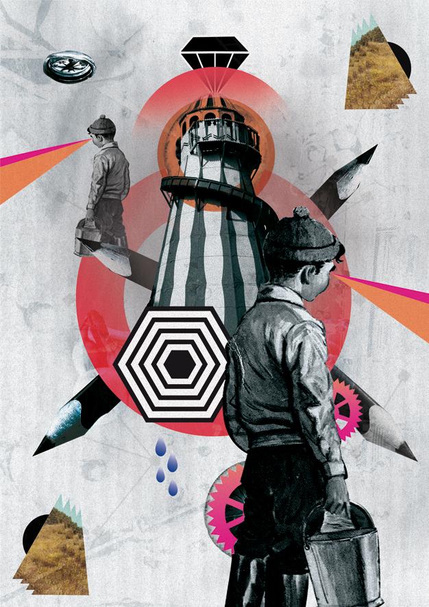 collage en diseño grafico digital de middle boop