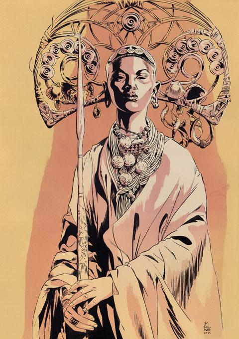 SEnor salme illustration oldskull 5