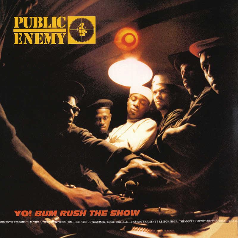 Portada de disco yo bum rush te show de public enemy por eric haze