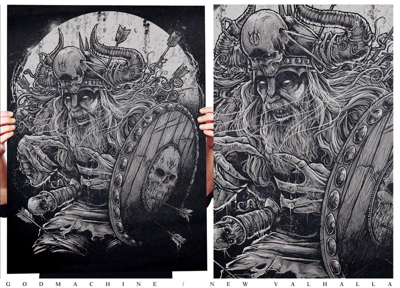 God Machine illustration viking warrior