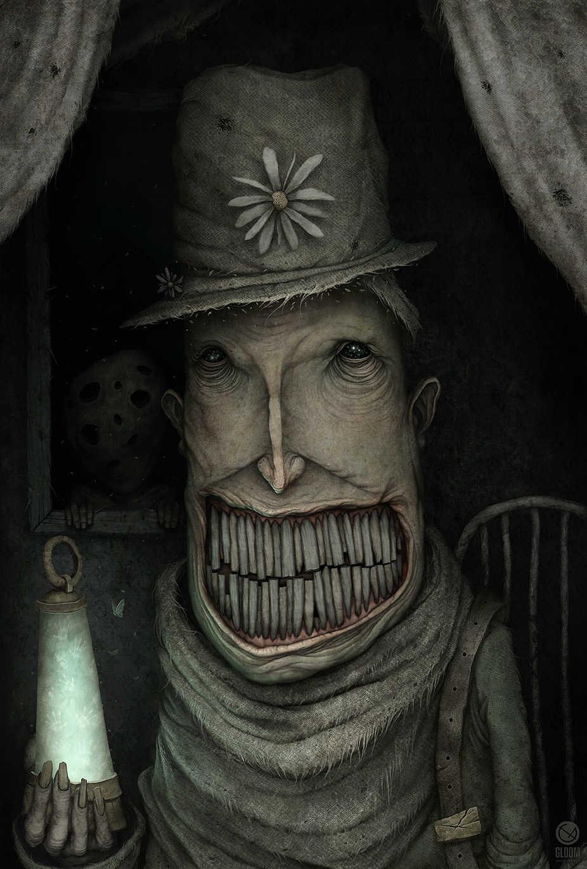 dibujo de personaje de ficcion con muchos dientes