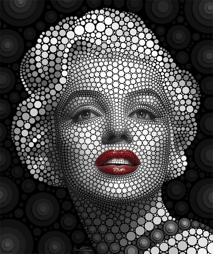 Ilustración de marilyn monroe