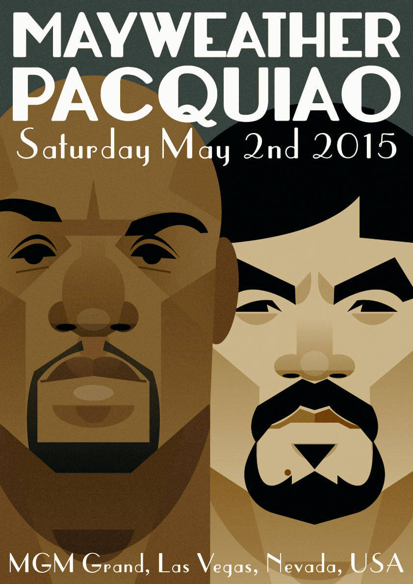 stanley chow illustration mayweather pacquiao