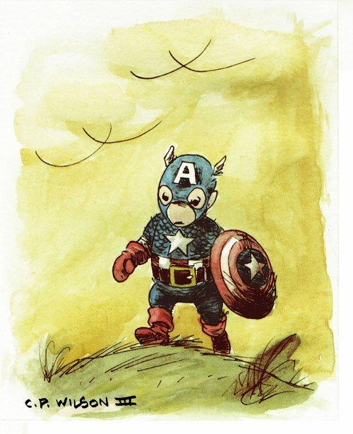 Winnie the pooh como capitan america