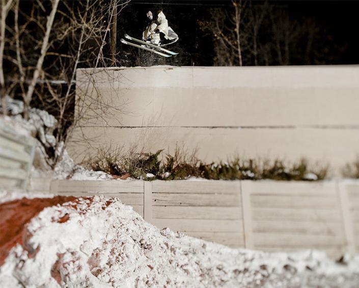 Big jump con skis