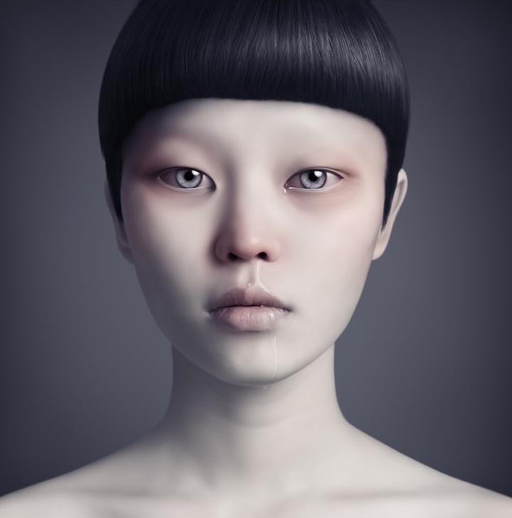 mujer asiatica misteriosa