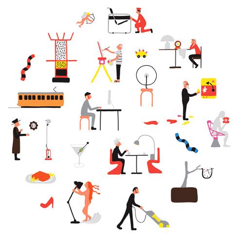 ilustracion sobre trabajo