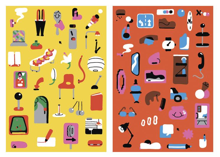 Objetos ilustrados