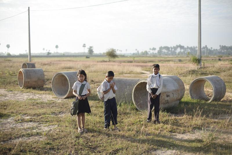 Fotografía de niños en el campo