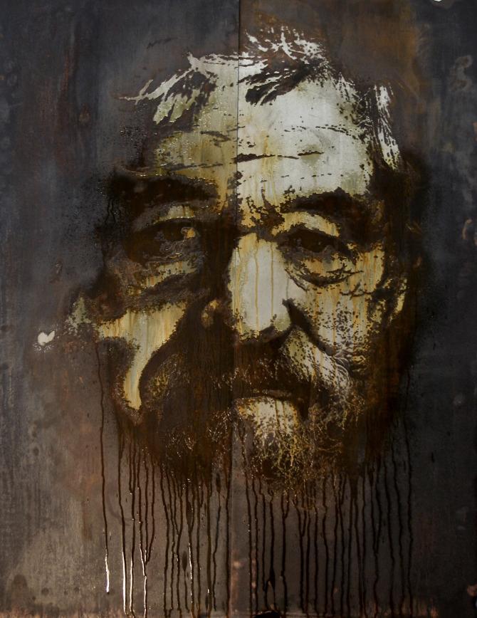 pintura con spray de Alexandre Farto aka Vhils