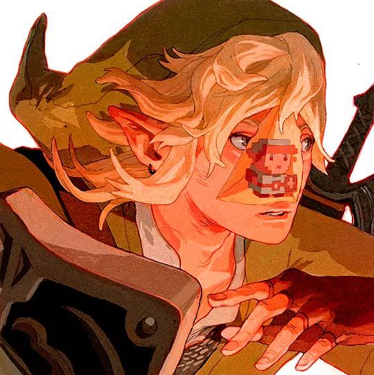 sachin-teng-illustracion de link del videojuego zelda
