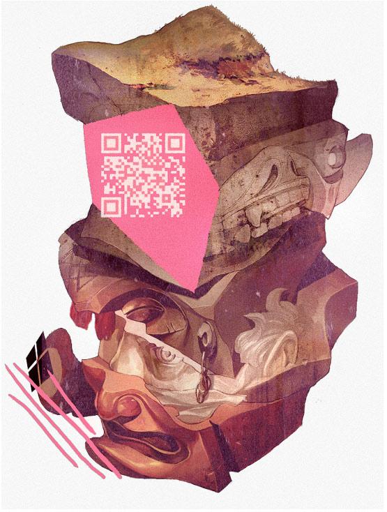 ilustracion abstracta de sachin teng