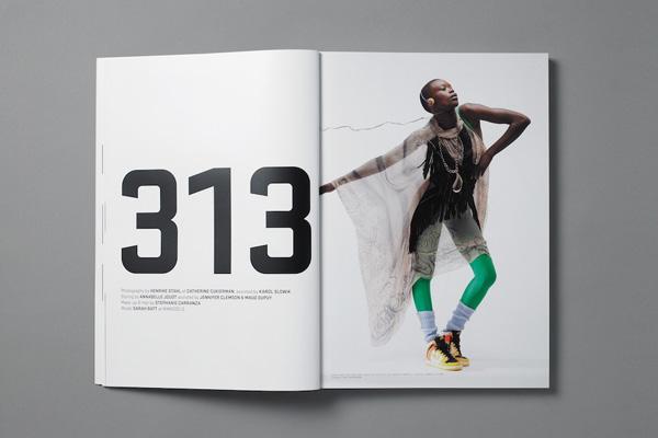 Ejemplo de revista diseñada por Xavier Encinas