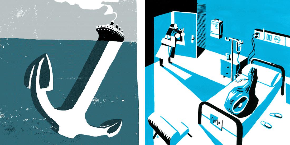 ilustracion editorial de iván bravo