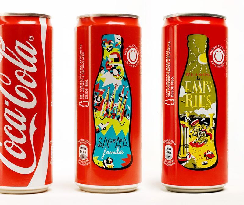 diseño de latas decoca cola de iván bravo