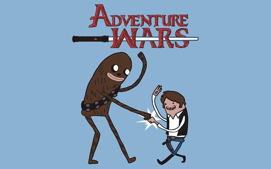 Fant art de hora de aventuras, star wars