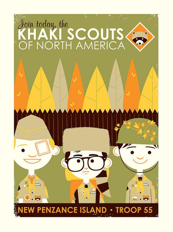 Cartel ilustracion de khaki scouts