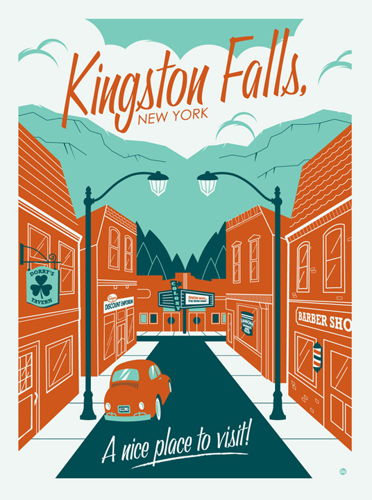 CARTEL DE KIGSTON fALLS New York