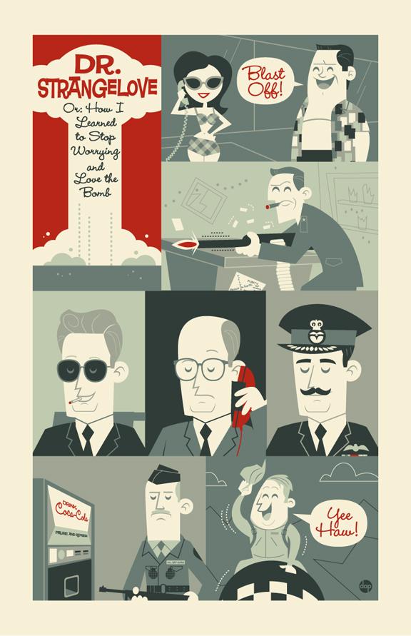 Poster ilustracion de Dr Strangelove