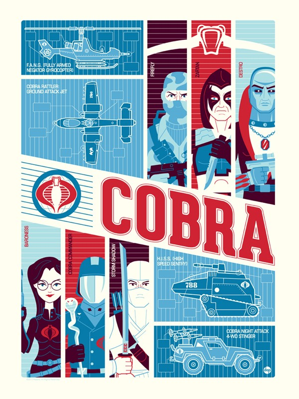 Cartel ilustracion de gi-joe cobra