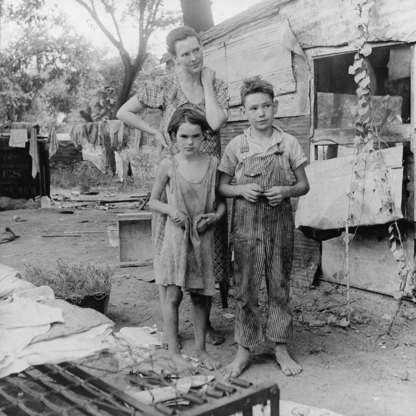 Fotografía de niños inmigrantes en los años 60s