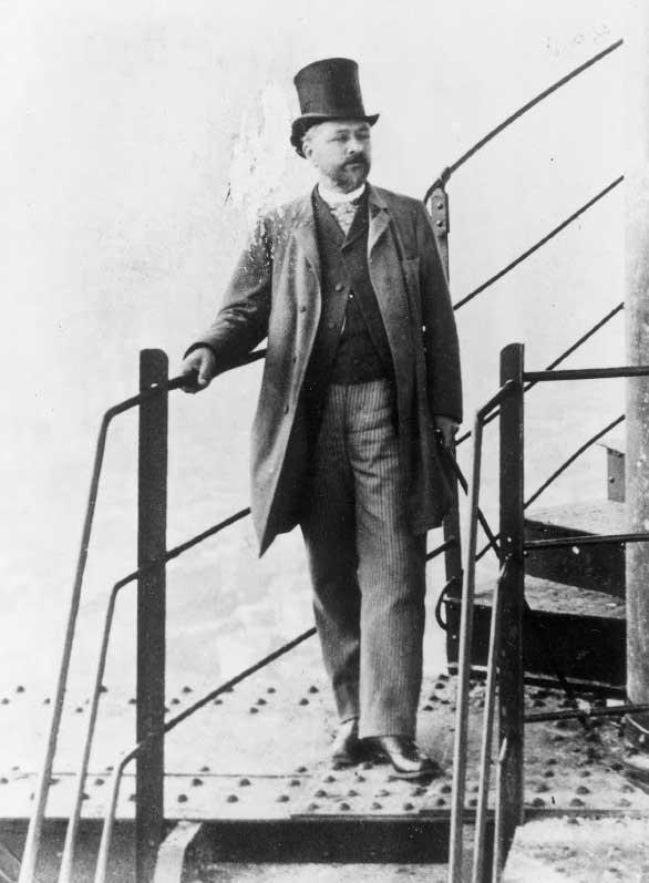 Alexandre Gustave Eiffel en la inauguración de la torre eiffel