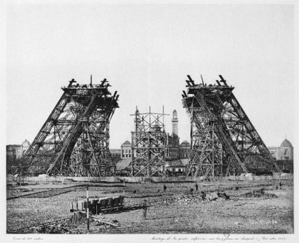Base y cimientos en la construcción de la torre eiffel