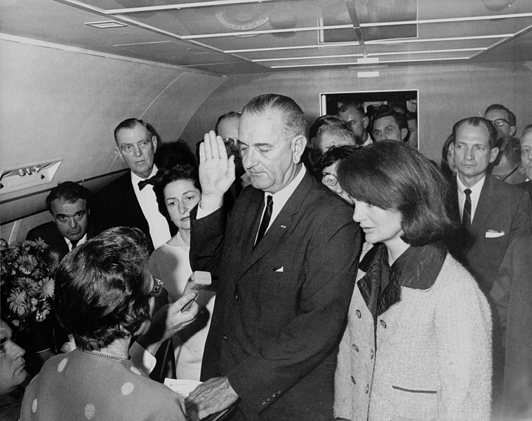 758px-Lyndon_B._Johnson_taking_the_oath_of_office,_November_1963-2