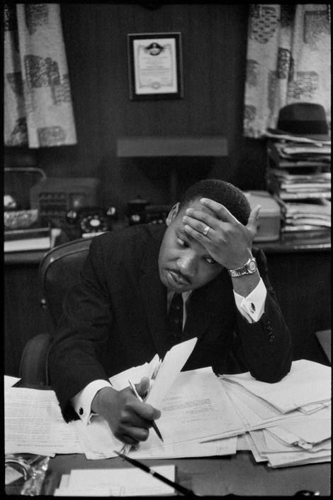 Martin Luther King fotografiado por HENRI CARTIER-BRESSON en 1961