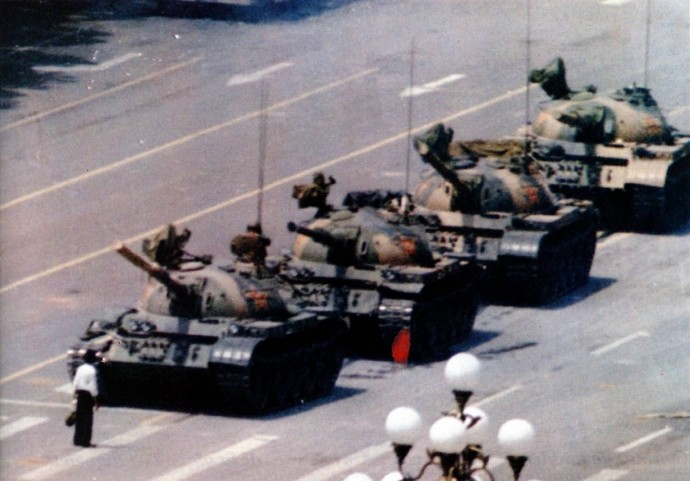 Rebelde desconocido de Tiananmen