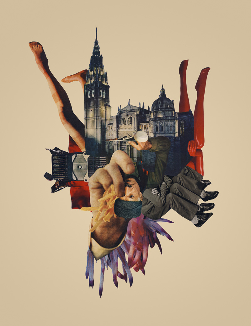 Collage abstracato de joe Castro