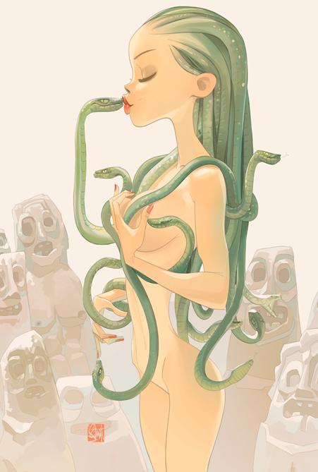 Otto-Schmidt-girl-illustrations-oldskull-5