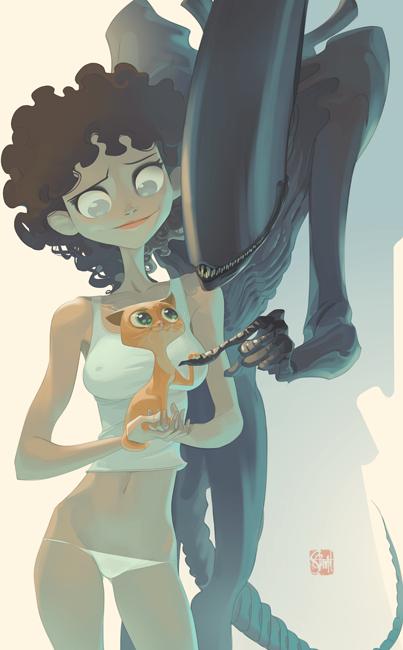 Otto-Schmidt-girl-illustrations-oldskull-8