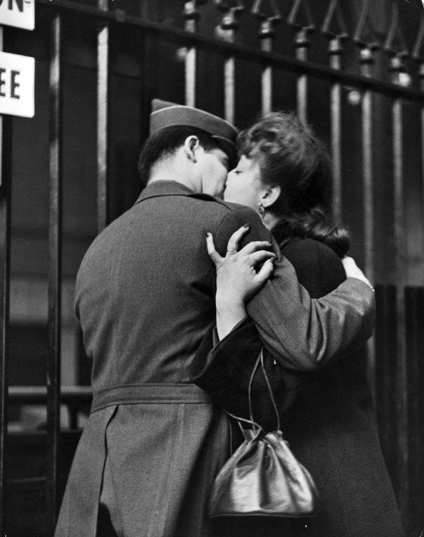 beso en la segunda guerra mundial