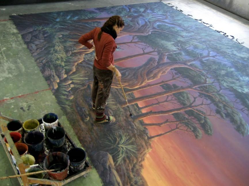 cinta vida pintando un maral