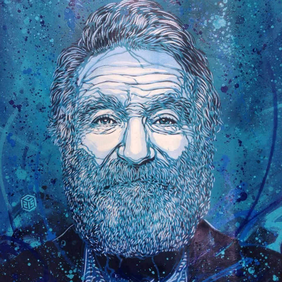 Robin Williams c215 street art