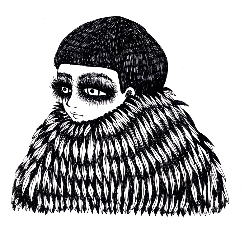 Ani castillo illustration oldskull 1